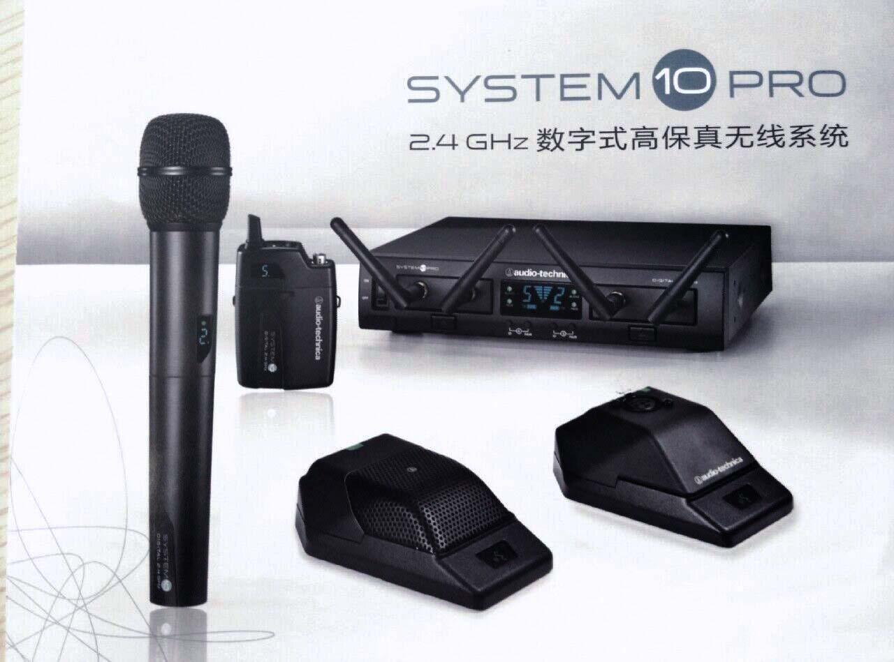 鐵三角的System 10 PRO 机架安装式数字无线系统,被设计为可提供绝对可靠的性能,同时该系统设置简单,声音效果自然、清晰。 System 10 PRO 机架安装系统采用双接收器底座和远程安装接收装置,可用于多种手持式和腰包式配置。 系统在2.4GHz 的范围内工作,不受电视和数字电视的干扰影响,其操作极其简易,可进行瞬时通道选择。 最多可作十路通道同时使用,而不会带来任何频率协调问题。 System 10 PRO 数字无线系统的每项配置都包含有容纳两个接收装置的机架安装式接收器底座ATW-RC13